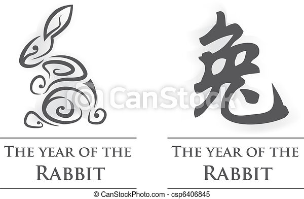 Year of the Rabbit - csp6406845