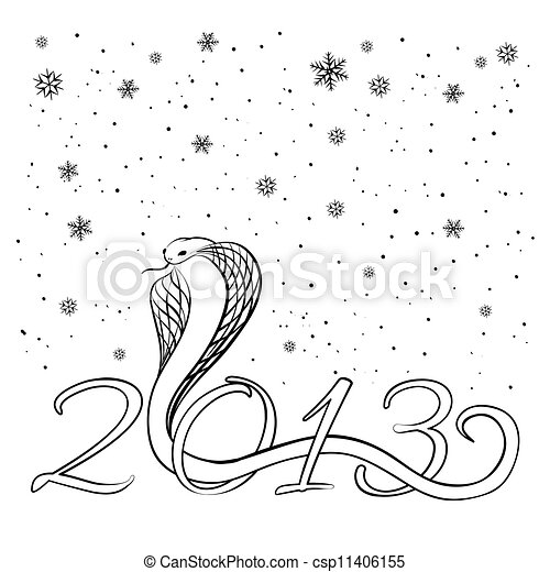 Year of the Snake 2013 - csp11406155