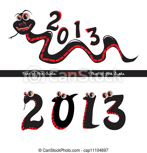 Year of the snake - csp11104697