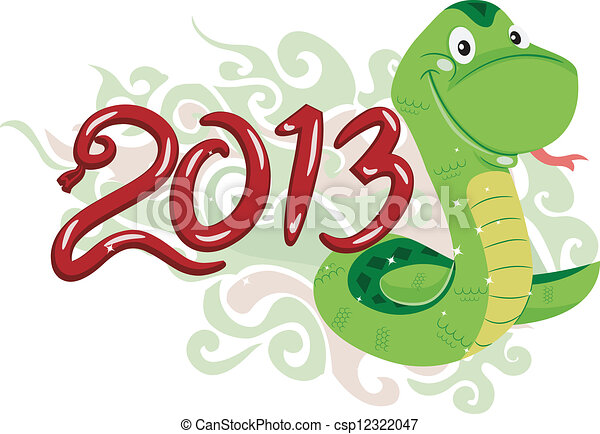Year of the Snake - csp12322047