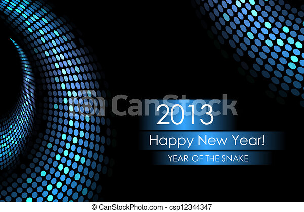 Year of the water snake - csp12344347