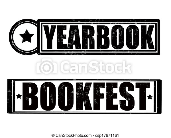 st with text yearbook inside vector illustration clip