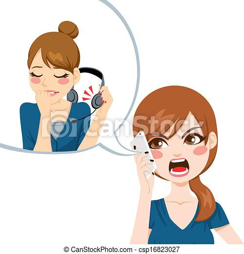 Yelling To Customer Service - csp16823027