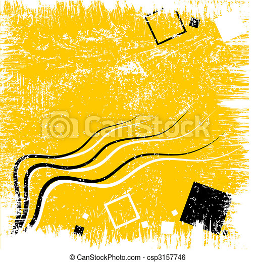 Yellow abstract background - csp3157746