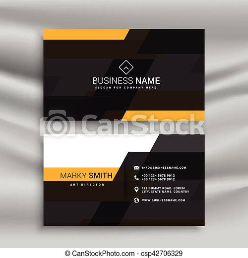 Yellow and black elegant business card template design vector yellow and black elegant business card template design csp42706329 cheaphphosting Image collections