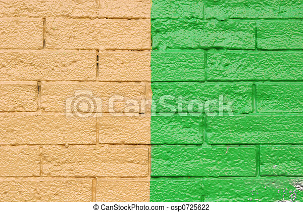 Yellow and Green Brick - csp0725622
