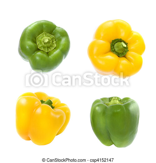 yellow and green pepper - csp4152147
