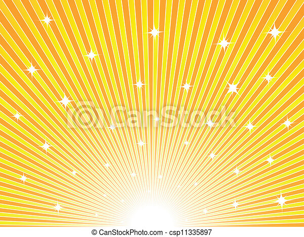 Yellow and orange sunny background - csp11335897