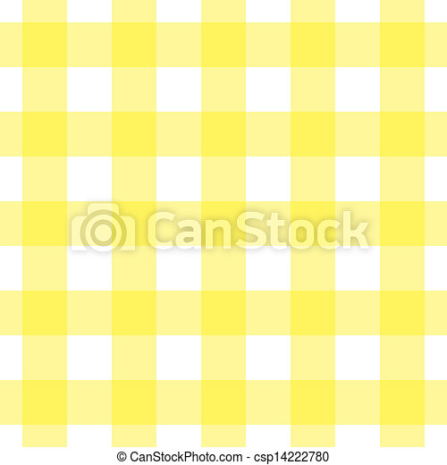 Yellow And White Tablecloth   Csp14222780