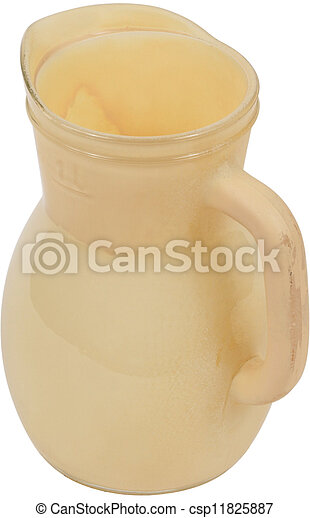 Yellow Antique Pottery jug  - csp11825887