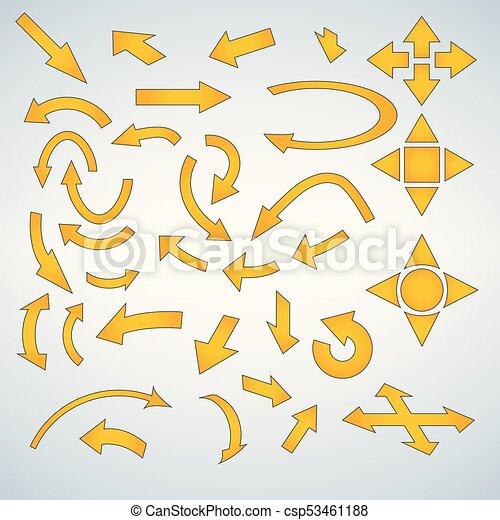 Yellow Arrow Icon Set - csp53461188