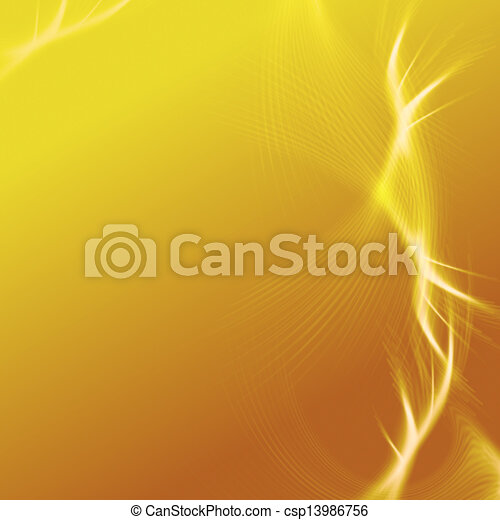 yellow background with lights and lines - csp13986756