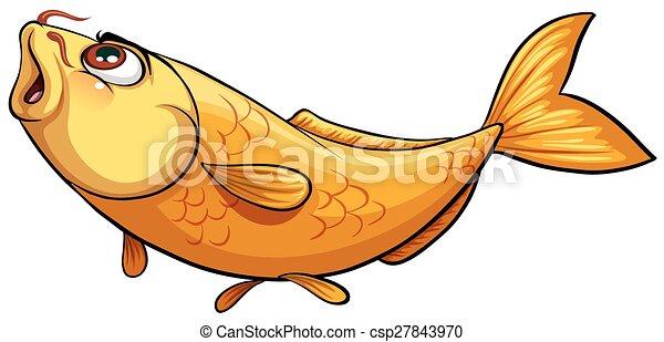 Yellow big fish on a white background yellow big fish csp27843970 thecheapjerseys Choice Image
