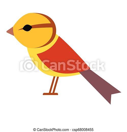 yellow bird flat illustration - csp68008455