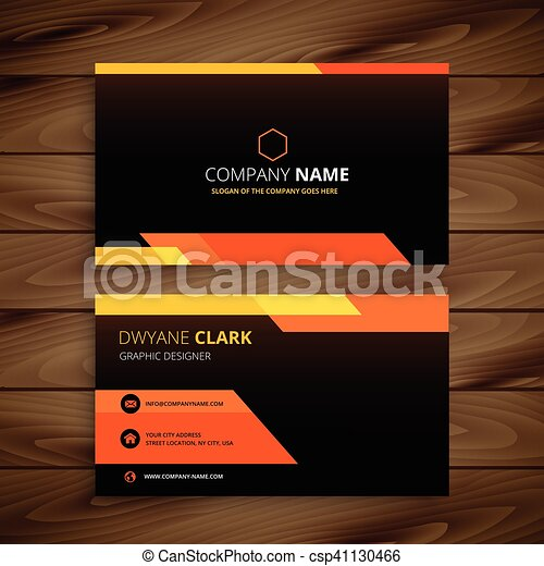 Yellow black business card yellow black business card csp41130466 colourmoves