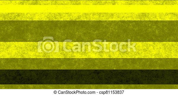 Yellow Black Grunge Stripe Paper Texture. Retro Vintage Scrapbook Lines Background. - csp81153837