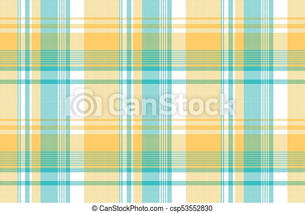 Yellow blue lite color pixel plaid seamless fabric texture. vector ...
