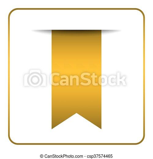 Yellow Bookmark Symbol Yellow Bookmark Banner Vertical Book Mark