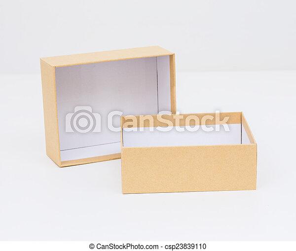 Yellow box on white background - csp23839110