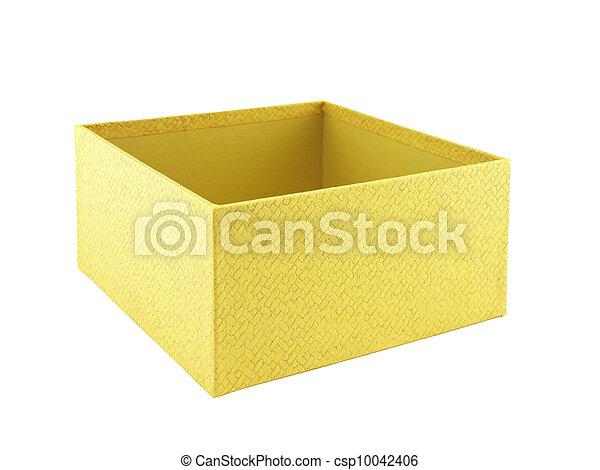 Yellow box on white background - csp10042406