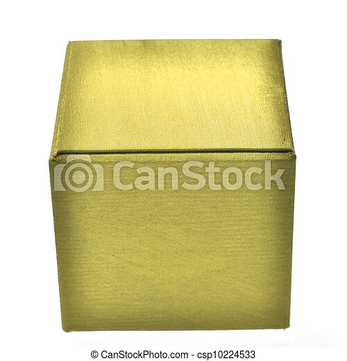 yellow box on white background - csp10224533