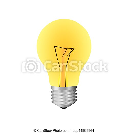 yellow bulb icon image - csp44898864