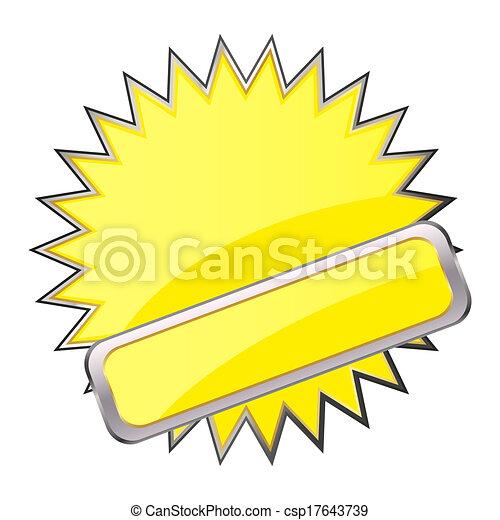 yellow button - csp17643739