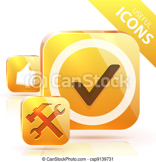 Yellow buttons - csp9139731