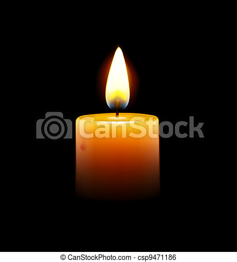 yellow candle - csp9471186