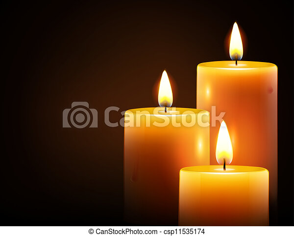 yellow candles - csp11535174