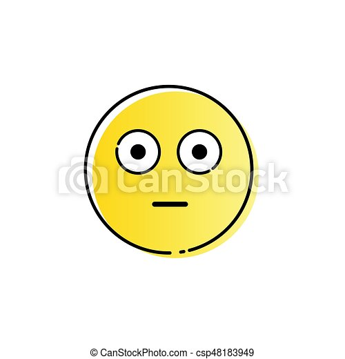 yellow cartoon face shocked people emotion icon vector eps vector