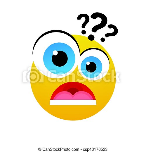 yellow cartoon face shocked people emotion icon flat vector