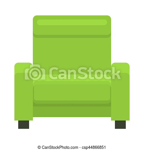 Yellow Chair In Flat Style Armchair In Flat Style Vector Green Barrel Chair Modern Beautiful Design Elements For Retro