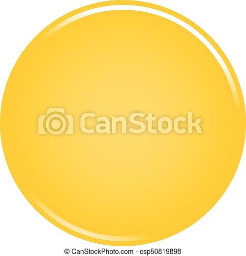 Yellow circle button blank web internet icon - csp50819898
