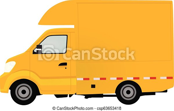 Yellow delivery truck - csp63653418