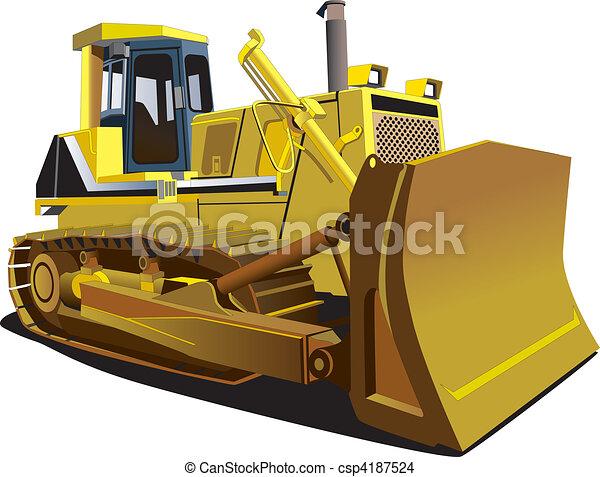 Yellow Dozer - csp4187524