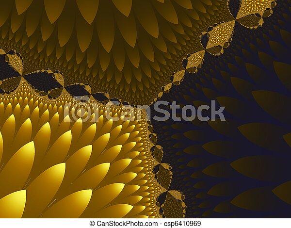 Yellow dried flowers 2 - csp6410969