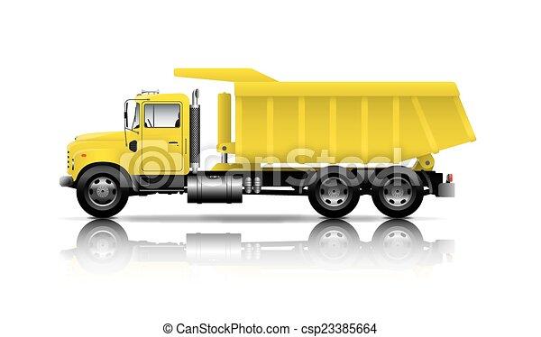 yellow dumper - csp23385664