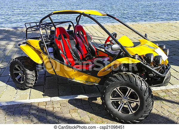 yellow dune buggy - csp21098451