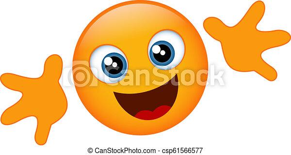 Yellow emoji hug