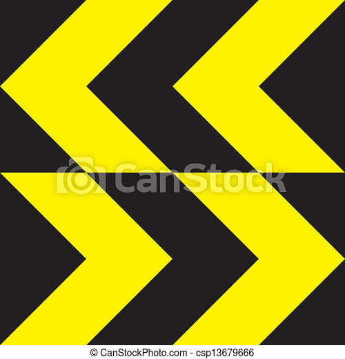 Yellow extreme direction change sign bidirectional - csp13679666