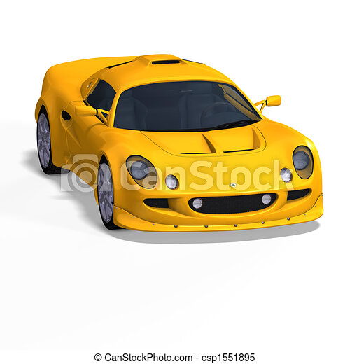 yellow fantasy racing car - csp1551895