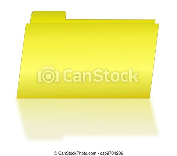 Yellow File Folder with Shadow - csp9704206