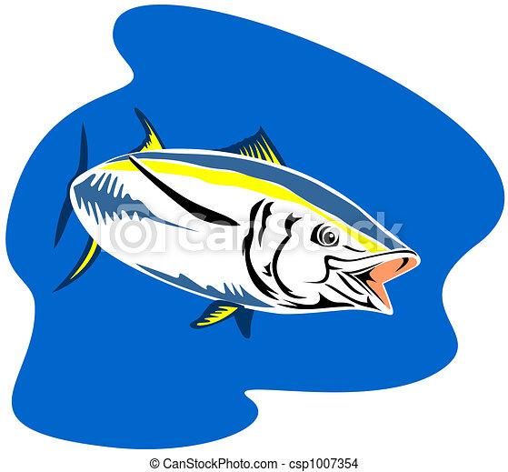 Yellow finned tuna - csp1007354