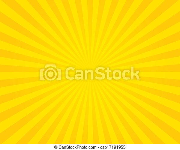 Yellow flare background. Illustration. - csp17191955