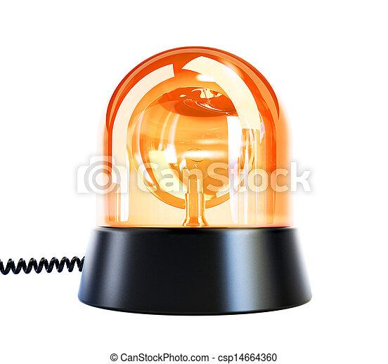 yellow flashing light - csp14664360