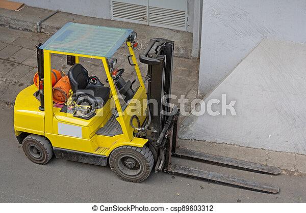 Yellow Forklift - csp89603312