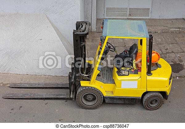 Yellow Forklift Truck - csp88736047