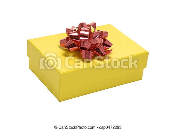 Yellow Giftbox - csp0472293