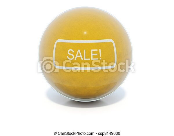 Yellow glossy sale icon - csp3149080